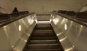 escalator shot undergroun